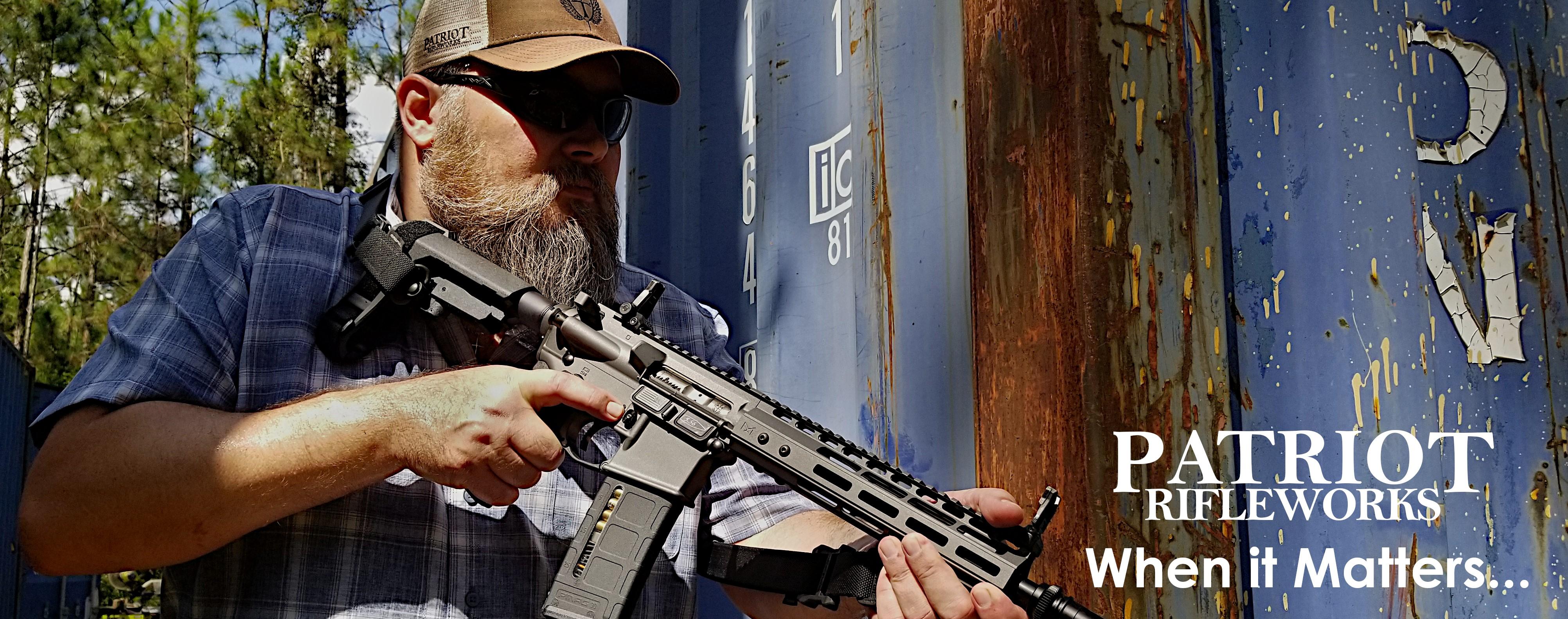 Patriot Rifleworks Man Holding Gun